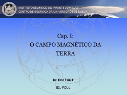 Cap. I. O Campo Magnetico da Terra
