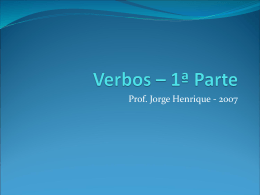 verbos – 1ª parte