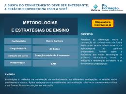 Metodologias e estratégias de ensino