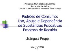Uso, Abuso e Dependência de Substâncias Psicoativas