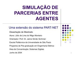 SIMULAÇÃO DE PARCERIAS ENTRE AGENTES
