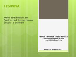 Apresentação de Patrícia Fernanda Toledo Barbosa