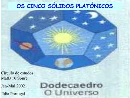 Os cinco sólidos platónicos