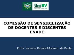 Palestra Comissão de Sensibilização de Docentes e Discentes