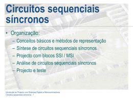 Circuitos Sequenciais Síncronos
