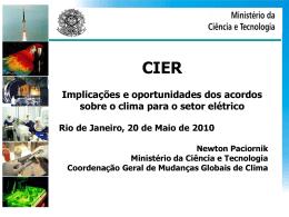 Implicações e oportunidades dos acordos sobre o clima