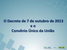 Convênio Único - Ministério do Planejamento, Orçamento e Gestão