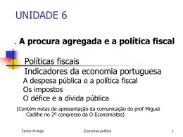 unidade 6 -politicas económicas fiscais