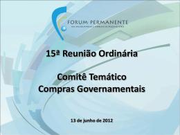QUESTIONÁRIO SOBRE COMPRAS GOVERNAMENTAIS