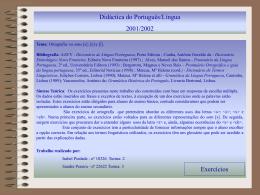 Apresentação do PowerPoint - Faculdade de Letras da
