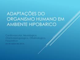 Adaptacoes do Organismo Humane em Ambiente Hipobarico