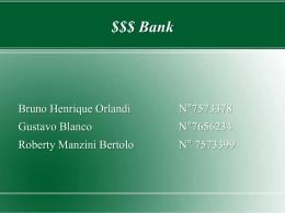 $$$ Bank - ICMC-USP