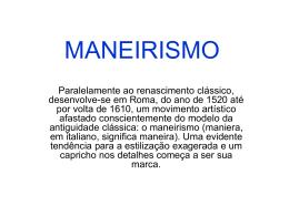 MANEIRISMO - Marcelinas