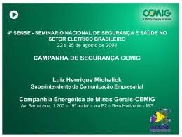 PÚBLICOS INTERNO E EXTERNO – Grupo CEMIG