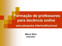 Formação de professores para docência online uma pesquisa