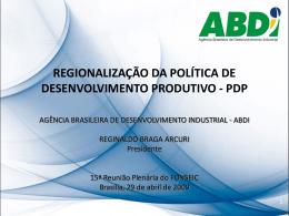 Apresentacao ABDI - Ministério do Desenvolvimento, Indústria e
