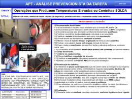 APT 38 - Operações que Produzem Temperaturas Elevadas ou