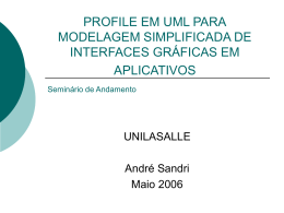 Slides do Seminário de Andamento