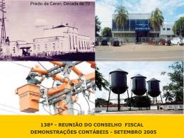 RAZÃO OPERACIONAL LIQUIDA - Eletrobras Distribuição Rondônia