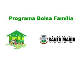 Apresentação - Programa Bolsa Família