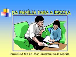 Da família à escola