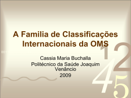 A Família de Classificações Internacionais da OMS