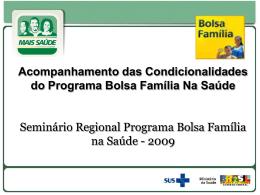 Informes Bolsa Família na Saúde