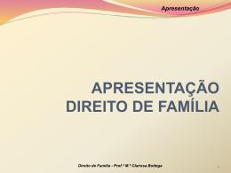 Apresentação - Professora Mestra Clarissa Bottega