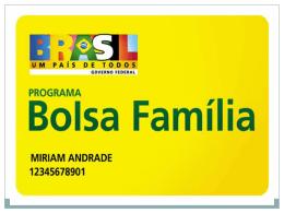 Apresentação Grupo Bolsa Familia