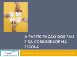 A participação dos pais e da comunidade na escola