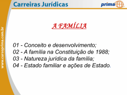 DIREITO CIVIL – DIREITO DE FAMÍLIA – AULA 01