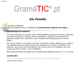 Em família(classes de palavras/sintaxe/semântica)