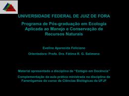 lamiales - Universidade Federal de Juiz de Fora