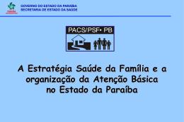 A Estratégia Saúde da Família e a organização da Atenção Básica