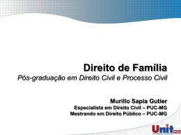 direito das famílias - Prof. Murillo Sapia Gutier