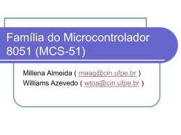 Família do Microcontrolador 8051