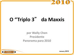 """O """"Triplo 3"""" da MAXXIS por Wally Chen"""