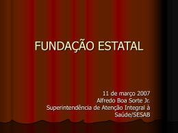 FUNDAÇÃO ESTATAL