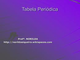 Tabela Periódica - norildasiqueira