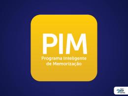 PIM - Jovens e Adultos - 3º Trimestre de 2013