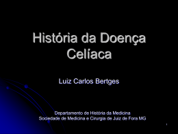 História da Doença Celíaca