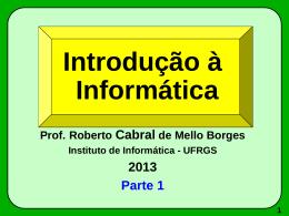 INF210 Parte 1 - Instituto de Informática
