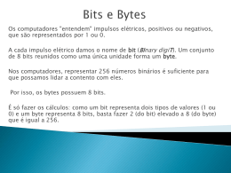 Bits e Bytes (Formato PPT – MS Office Power Point)