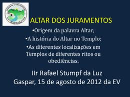 ALTAR DOS JURAMENTOS