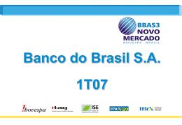 1T07 - Banco do Brasil