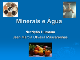 Minerais e Água