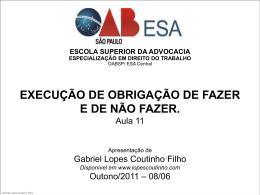 OBRIGAÇÕES DE FAZER - Gabriel Lopes Coutinho Filho