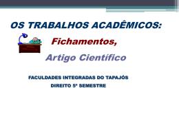 Material para o Curso de Direito - Faculdades Integradas do Tapajós