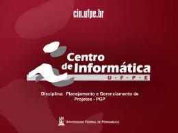 Gerenciamento de Aquisição - Centro de Informática da UFPE