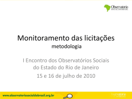 Há Legalidade no edital? - Observatório Social do Brasil